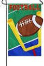 """Football 168486 Evergreen Applique Garden Flag 12.5"""" x 18"""""""