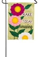 "Make Today Amazing 14B4033BL Evergreen Burlap Garden Flag 12.5"" x 18"""