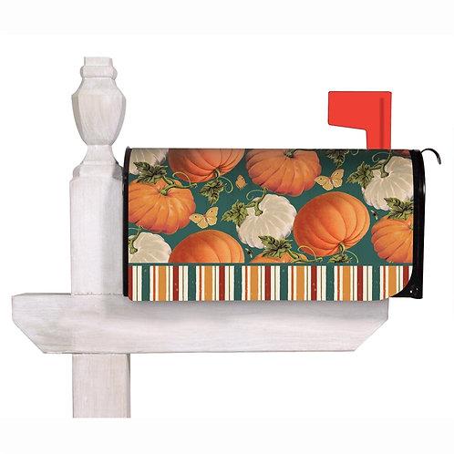 Fall Garden Pumpkins Evergreen Mailbox Cover 56713