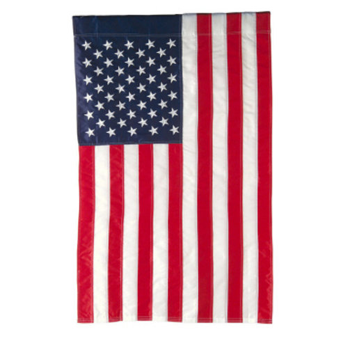 "**OPEN FLAG NO PACKAGING** American Flag 15220 Applique HOUSE Flag 28"" x 44"""