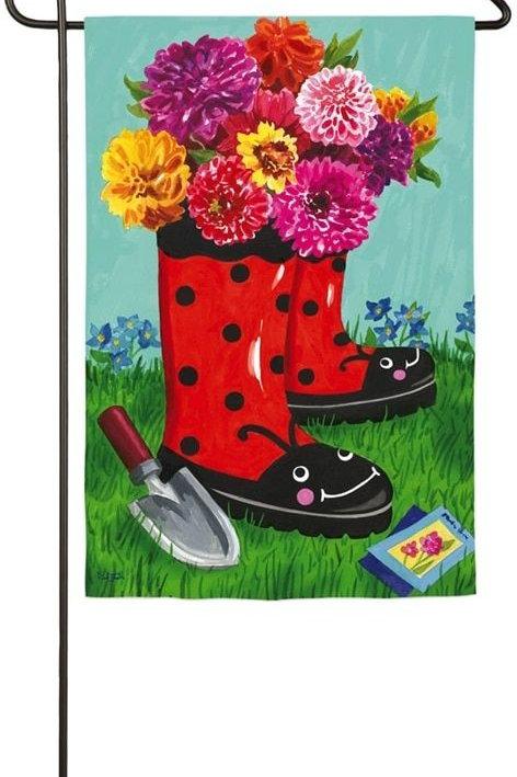 "**OPEN FLAG** Garden Boots 13S3603BL Evergreen Suede HOUSE Flag 28"" x 44"""