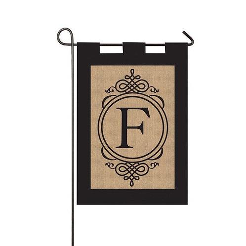 """Burlap Monogram 14B2704 Evergreen Burlap Garden Flag 12.5"""" x 18"""""""