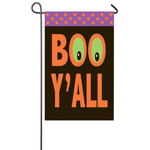 "Boo Y'all 168245BL Evergreen Applique Garden Flag 12.5"" x 18"""