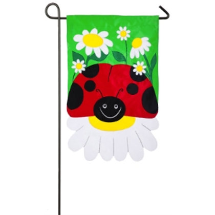 "Ladybug Garden 168641 Evergreen Applique Garden Flag 12.5"" x 18"""
