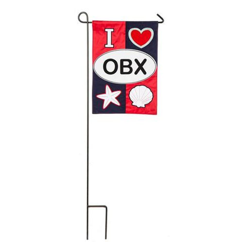 "OBX 168790 Evergreen Applique Garden Flag 12.5"" x 18"""