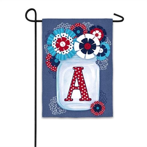 "Americana Mason Jar 14S8584 Evergreen Suede Garden Flag 12.5"" x 18"""