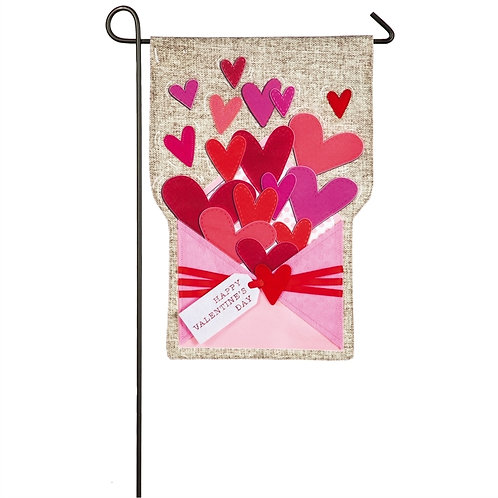 """Envelope of Wishes Linen Flag 14L4808 Evergreen Linen Garden Flag 12.5"""" x 18"""""""
