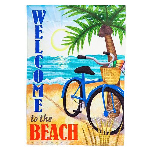 """Beach Bike 13S4450 Evergreen Suede HOUSE Flag 28"""" x 44"""""""