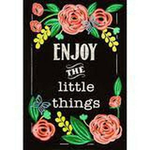 "Enjoy the Little Things 14B4032 Evergreen Burlap Garden Flag 12.5"" x 18"""