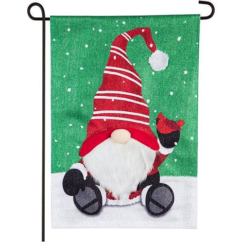 """Santa Tomte 14ML9229 Evergreen SHIMMER Linen Garden Flag 12.5"""" x 18"""""""