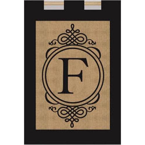 "Burlap Monogram Flags 14B2704 Evergreen Burlap Garden Flag 12.5"" x 18"""