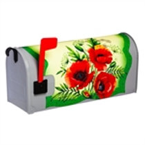 Imperial Poppies on Greenery Evergreen Mailbox Cover 56574