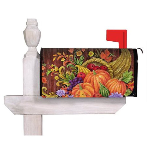Give Thanks Cornucopia Evergreen Mailbox Cover 56690