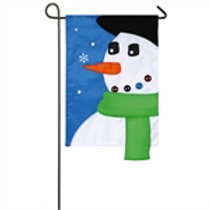 "First Snow 168873SA Evergreen Applique Garden Flag 12.5"" x 18"""