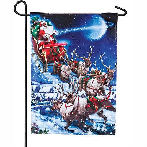 """Christmas Eve Solar LED LIGHT UP 14SL8160 Garden Flag 12.5"""" x 18"""""""