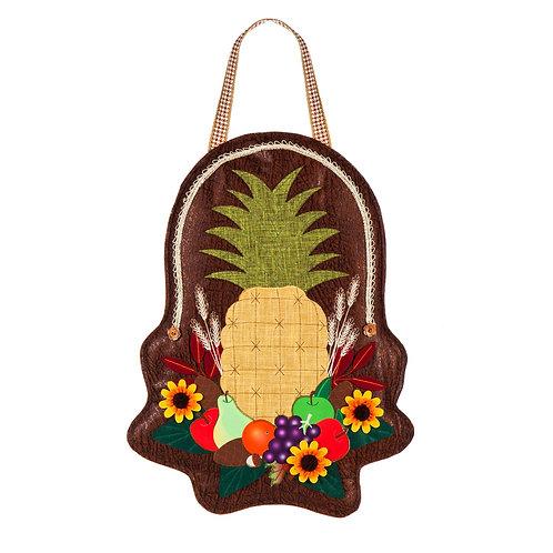 Harvest Pineapple Door Decor 2DHB1356 Evergreen Door Hanger