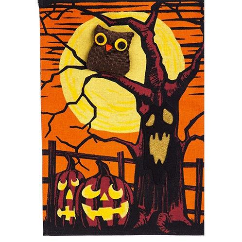 """Haunted Night 14B4498BL Evergreen Burlap Garden Flag 12.5"""" x 18"""""""