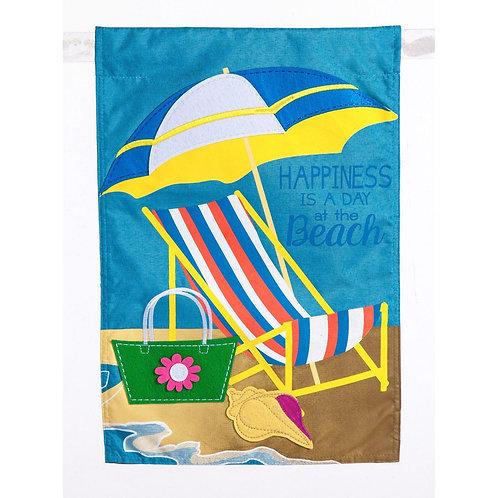 """Beachy Summer 14L4191 Evergreen Linen Garden Flag 12.5"""" x 18"""""""