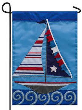 """Sail On 168548 Evergreen Applique Garden Flag 12.5"""" x 18"""""""