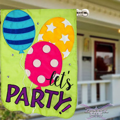 """Let's Party Balloons 158652BL Evergreen Applique HOUSE Flag 28"""" x 44"""""""
