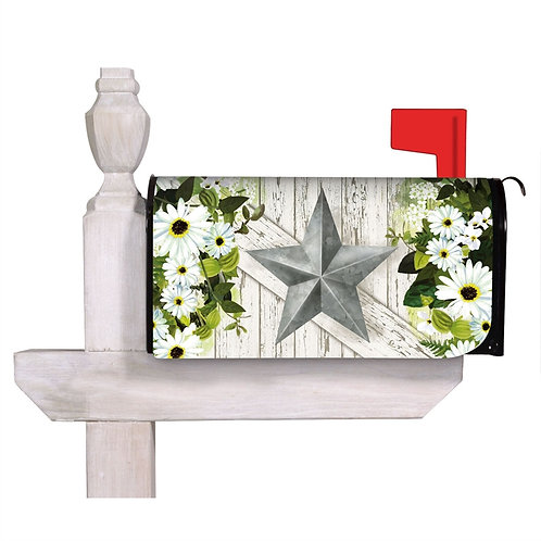 Galvanized Star Evergreen Mailbox Cover 56736