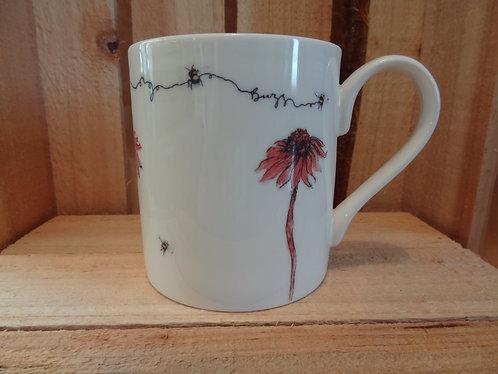 Mug - Bee and Echinacea