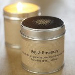 Scented Candle - Bay and Rosemary Tin