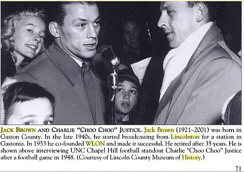 My Uncle Jack Brown, Owner of WLON Radio, Lincolnton North Carolina, Right side of Picture