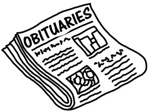 Funeral Notice or Obituary?  Words MATTER. Women's Suffrage Centennial