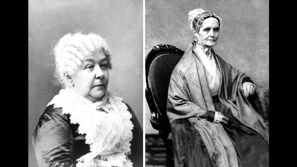 Elizabeth Cady Stanton with Lucretia Mott. Abolitionists & Women's Rights Pioneers