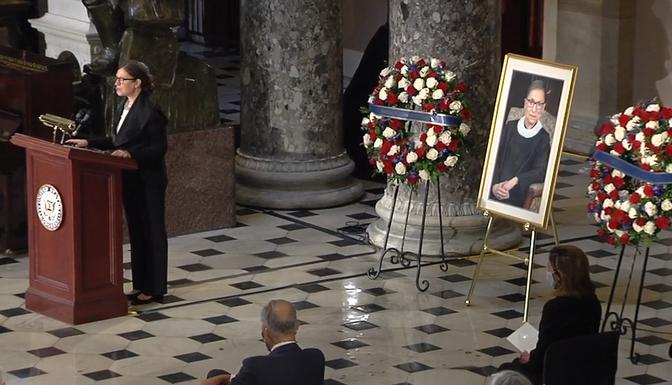 Honoring the Life of Justice Ruth Bader-Ginsburg at the Capitol