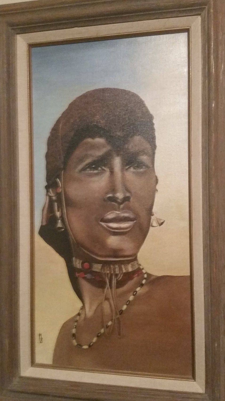 Mary's Boer's Painting of a Zulu Warrior. Happy Juneteenth