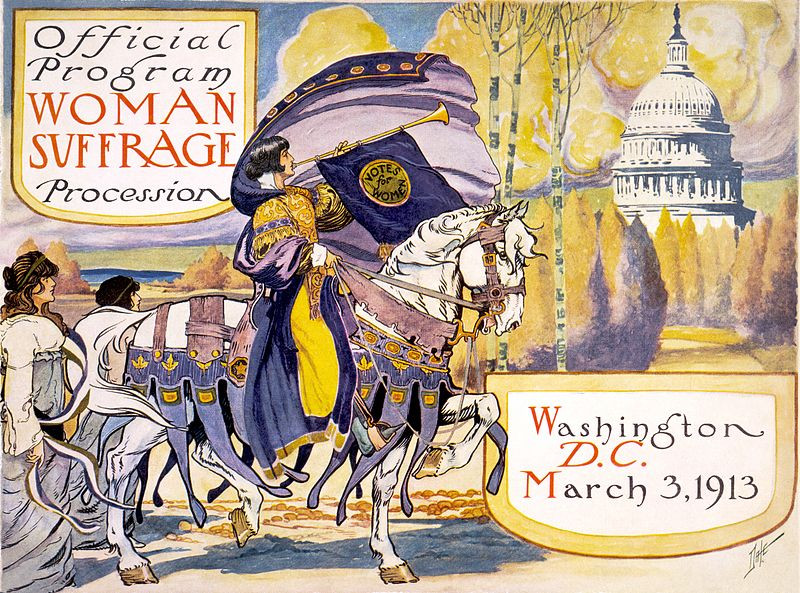 Women's Suffrage Parade, Washington DC, March 3, 1913