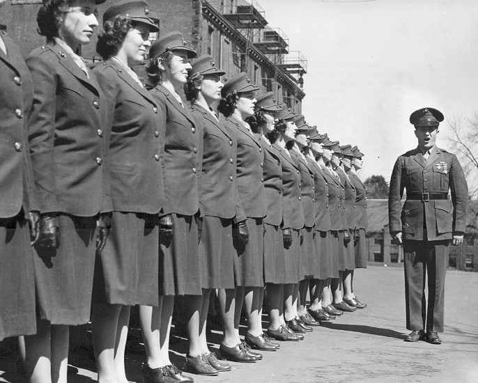 1943 First Group of Female Marine Recruit Candidates. National Archives