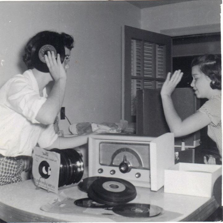 My Mom Brenda Listening to Records, 1954