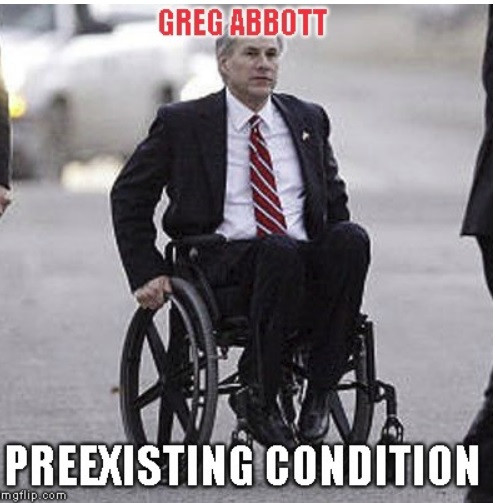 Greg Abbott PreExisting Condition