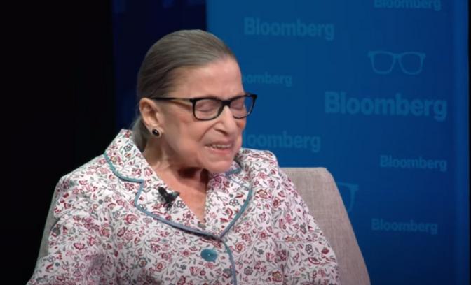 RBG on Scalia-Ginsburg.  Honor Her Seat