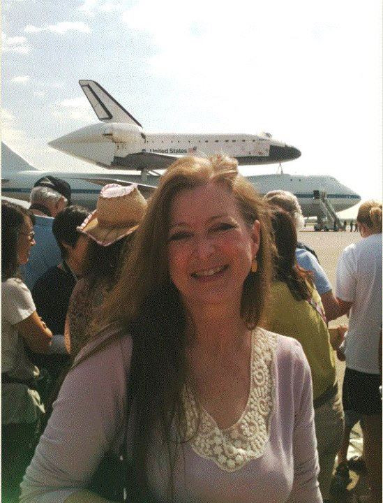 Lisa Annette Stanley at Ellington Field for the return of the Space Shuttle