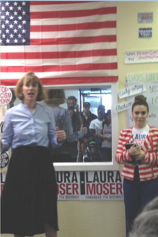 Little Lobbyist Alyssa Milano in the House with Laura Moser for Congress