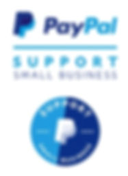 "Image of PayPal ""Support Small Business"" Donation Button"
