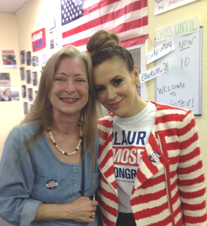 Alyssa Milano, Co-Sponsor of Health CARE Voters during Texas Primaroes