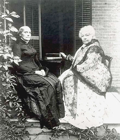 Elizabeth Cady Stanton and Susan B Antho