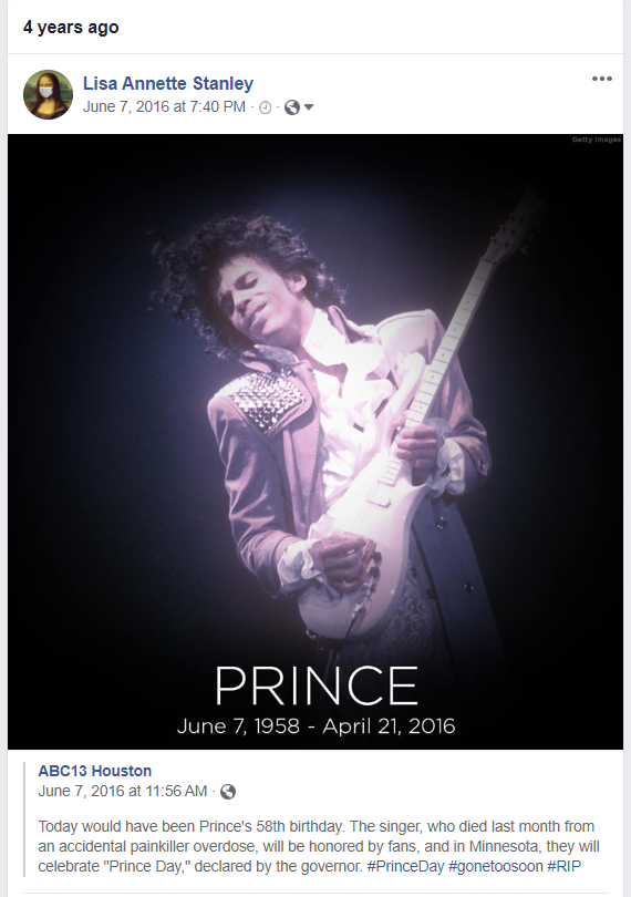 This is What It Sounds Like When Doves Cry.  Happy Birthday Prince