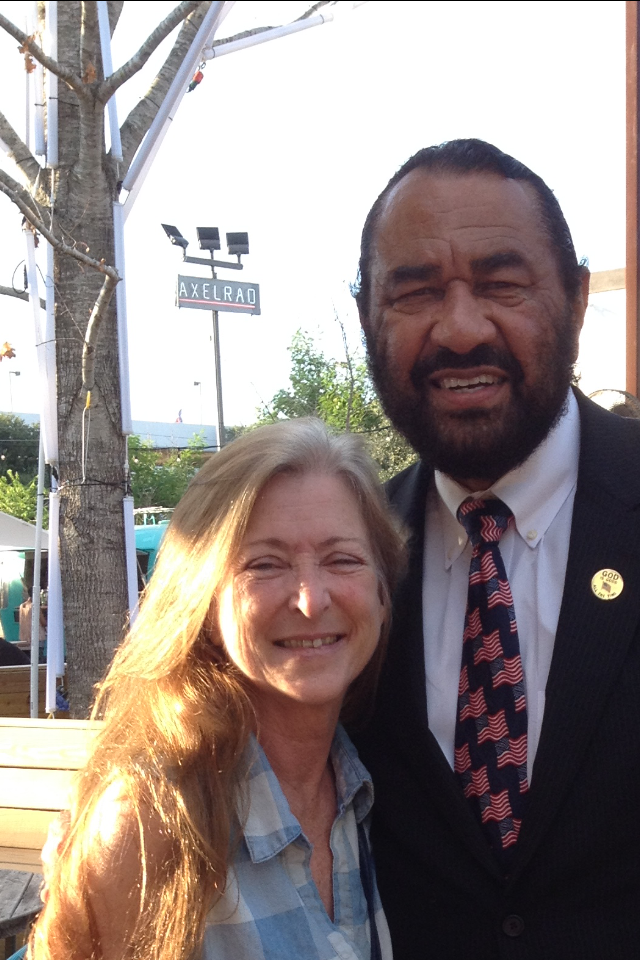 Me with House Rep Al Green for Women's Equality Day August 20, 2017