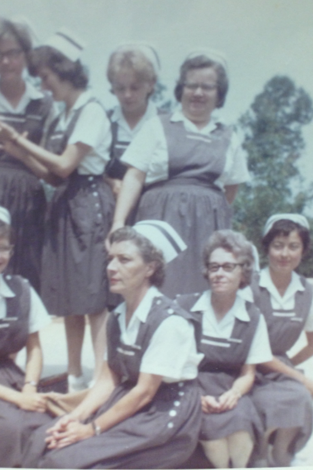 My Grandmommy Ruth with Graduating Class from Nursing School