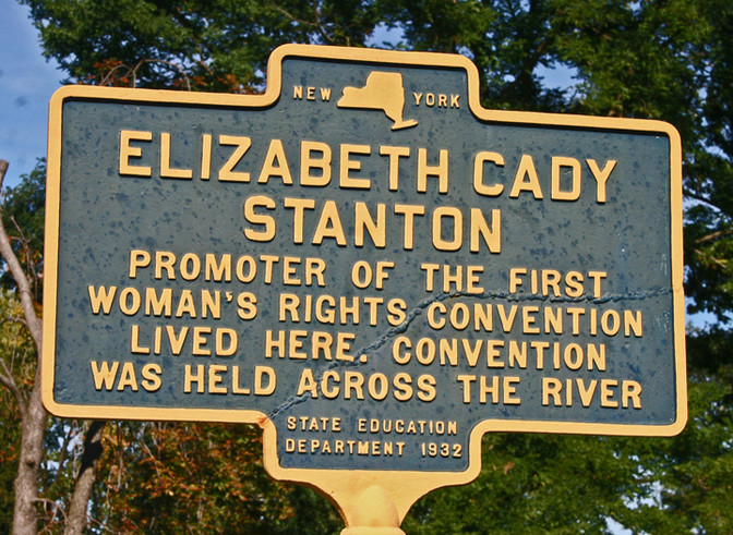 The First Women's Rights Convention at Seneca Falls. Women's History Month Day 25