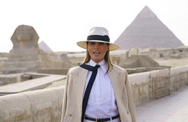 Melania Trump at the Sphinx