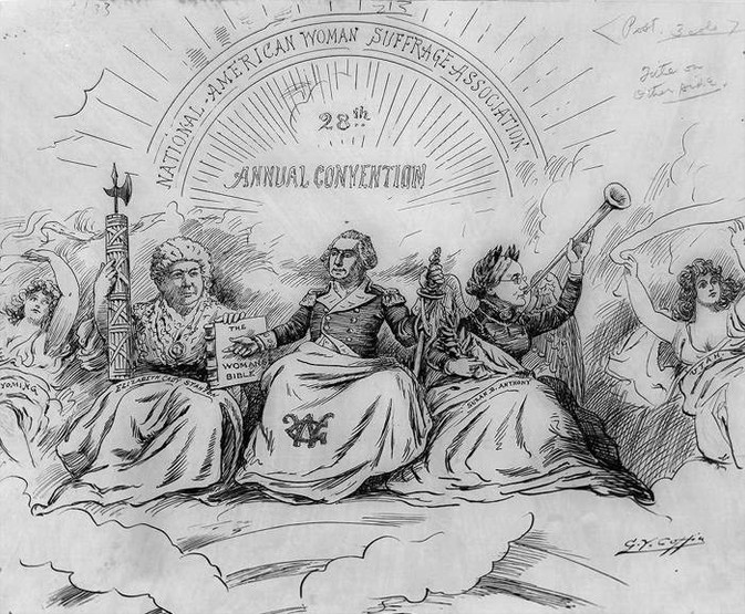 The Apotheosis of Suffrage. Political Mud-Slinging of Now as Then.  Women's Suffrage Centennial