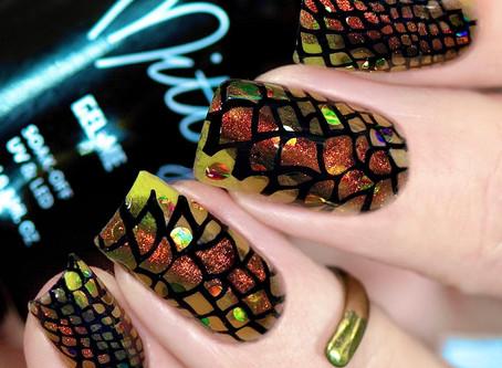 Snake Skin Nail Design