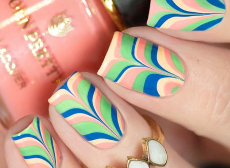 NAIL ART IDEAS using Born Pretty x KunCat nail polish set |Watermarble